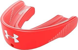 Under Armour 安德玛 味道 护齿器运动服 适用于足球、长曲棍球、拳击、MMA、柔术。包括可拆卸头盔带。儿童、青少年和成人。男孩和女孩。Protectar Bucal 红色