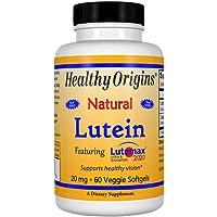 Healthy Origins Lutein Lutemax 2020 Supplement, 20 mg, 60 Co…
