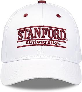 斯坦福深红色成人游戏杆可调节帽子–白色,