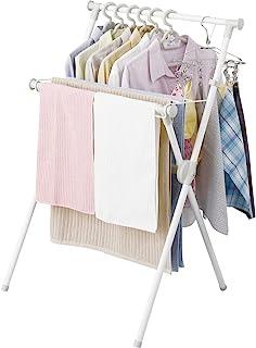 アイリスオーヤマ(IRIS OHYAMA) 晾衣架 室内晾衣架 小巧收纳 带毛巾架 轻巧 约2人用 宽约70×深约49×高约100厘米 X-700VR