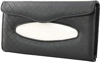 UXELY 汽车纸巾架,皮革汽车遮阳板纸巾架,汽车遮阳板面纸巾收纳盒(尺寸:1 件)