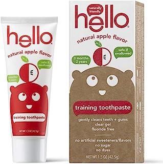 Hello 口腔护理牙膏儿童2岁以上 Organic Apple 1.5 Ounce