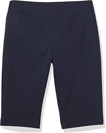 SLIM-SATION 女式宽带套穿纯色紧身短裙,带人造正面 L 口袋