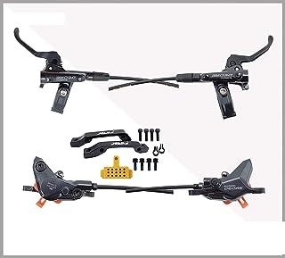 适用于 Shimano DEORE M6100 2 活塞、下坡 XC 山地自行车的 JGbike 兼容液压盘制动器套装,预组装和预嵌