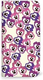 Mitas AQUOS L2 手机壳 手账型 无带 花 三色堇 A・紫色×粉色 (315) NB-0248-A/L2