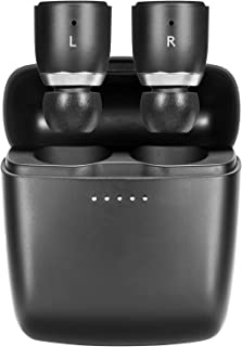 Cambridge Audio Melomania 1 对耳塞,真正的无线蓝牙5.0,Hi-Fi 声音,入耳式立体声耳机,适用于 iPhone 和 Android ,带便携式充电盒(黑色)