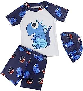 男婴 2 件套*泳衣*泳装恐龙泳衣套装带帽子
