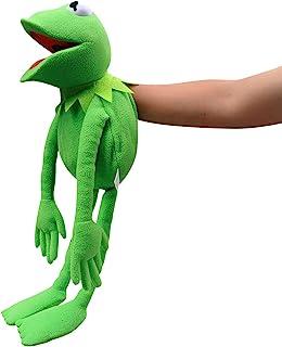 Kermit 青蛙手偶,青蛙毛绒,木偶秀,柔软的青蛙木偶玩偶,适合角色扮演 - *,24 英寸(约 61.9 厘米)