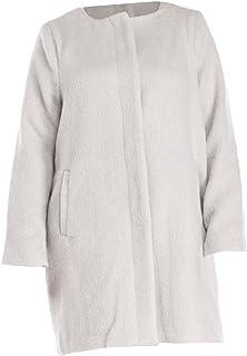 BB Dakota 女式加大码女领无领羊毛混纺大衣