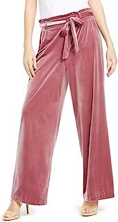 INC International Concepts 女式天鹅绒阔腿纸袋裤