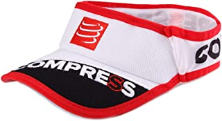 Compressport 中性 40克轻量空顶帽遮阳帽太阳帽鸭舌帽户外运动帽跑步帽子 CS-VISORV2