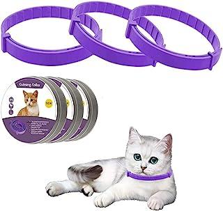 LUPUS 3 件装猫咪舒缓项圈 猫咪舒缓项圈 天然猫咪费洛蒙舒缓项圈 可调节防水 *减少猫咪*项圈