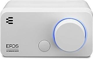 EPOS I Sennheiser GSX 300,游戏Dac /外部 USB 声卡,带7.1 环绕声,高分辨率音频 EQ 预设用于游戏、电影和音乐的音乐-用于个人电脑和Mac的游戏声卡,白色