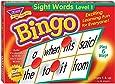 Trend Enterprises Inc Sight Words Bingo 家庭/课堂语言构建技能游戏 (T6064),使用 46 个常用单词构建词汇,3 - 36 名玩家,适合年龄 5 岁及以上,填空以喊出bingo赢得胜利