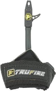 TruFire Patriot 射箭复合弓释放 - 可调节黑色腕带.