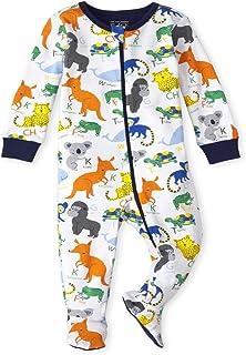 The Children's Place 婴幼儿男孩 ABC 动物贴身棉质连体睡衣