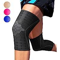 Sparthos 膝盖压力袜(一对) - 针对跑步、运动、膝盖*缓解关节保护和支撑 - 男式和女士护膝 - 创新透气弹性…