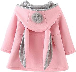 Dream-Store 女婴幼童兔耳秋冬外套夹克外套耳朵连帽卫衣