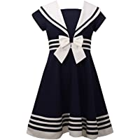 Bonnie Jean 女童修身喇叭航海连衣裙