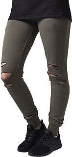 都市经典女式女式 cutted 绒布长裤