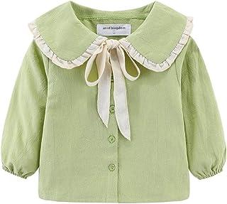 Mud Kingdom 小女孩长袖衫 彼得潘领可爱蝴蝶结