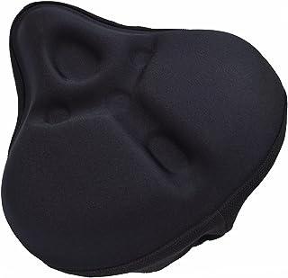 宽款舒适自行车座垫,男士填充柔软*泡沫,适用于旋转自行车室内自行车和健身自行车座套,减震和透气自行车座垫套