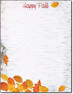 Happy Fall 文具纸 - 80 张秋天信纸