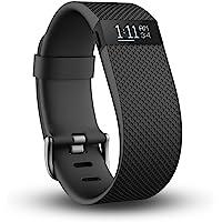Fitbit Charge HR 智能手环 心率实时监测 自动睡眠记录 来电显示 运动蓝牙手表计步器 黑色 L FB40…