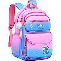女孩背包,防水儿童背包,公主书包,幼儿书包,可爱旅行背包 robin 蓝 Small