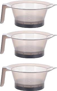 PIXNOR *搅拌碗,3 件着色混合着色碗,DIY *塑料*碗,适用于理发师沙龙和家庭使用