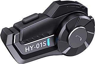 摩托车头盔蓝牙耳机,无线对讲通信系统 2 骑手组,带 FM 收音机,1 件装