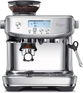 Sage Appliances SES878BSS the Barista Pro Bean to Cup 拉丝不锈钢浓缩咖啡机,1680 W,2升