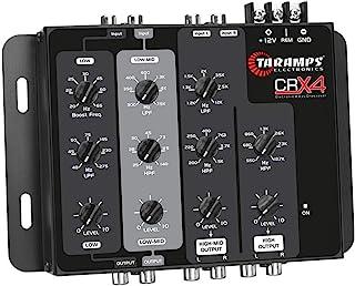 Taramps CRX4 汽车音频 4 向单声道 8V 低音增强 DSP 分频器