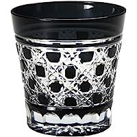 田岛硝子 江户黑切子 玻璃杯 黑色 オールドグラス TG-09-28-1K