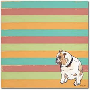 Trademark Fine Art Bulldog Tammy Kushnir 出品 24x24 ALI11194-C2424GG