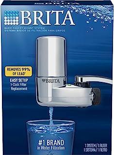 Brita 碧然德水龙头滤水系统,带过滤器更换提醒,减少铅,不含 BPA,只适合标准水龙头 - 镀铬 10100000000000