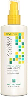 Andalou Naturals Perfect Hold Hair Spray, Sunflower and Citrus, 8.2 Fl Oz 海外