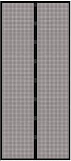 Rhino Screen 犀牛昆虫屏防昆虫门帘,昆虫窗帘,磁性防虫门,防蚊纱门,95 x 215厘米,黑色,03798,0.5x95.0x215厘米