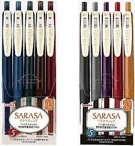 ZEBRA 斑马 凝胶圆珠笔 SARASA CLIP 0.5 复古 10色 JJ15-10C-VI-VI2-AZ