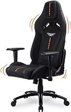 Acethrone 游戏椅,高背赛车风格椅带 PU 皮革和织物电脑桌椅,2D 扶手支撑人体工程学办公椅,高大游戏椅,带柔软头枕,适合成人/青少年。