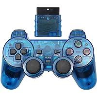 Cotchear 無線游戲手柄 適用于 PS2 控制器 適用于 Playstation 1 2 控制臺操縱桿 雙振動沖擊…