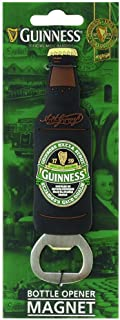 Guinness Green Collection Bottle Opener Magnet - Beer Shaped Cap Remover