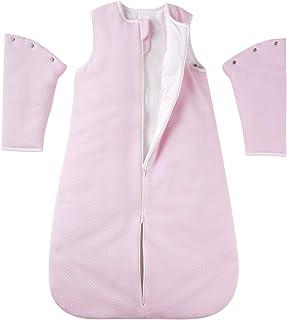 Chuchu Puff 婴儿睡袋,秋冬,可拆卸长袖 2.5 Tog 反向拉链保暖可穿戴毛毯超柔软透气棉质婴儿睡袋适合婴幼儿,18-24 个月