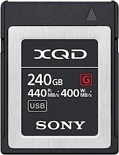 Sony 索尼 240GB (256GB 預格式)5x TOUGH XQD 閃存卡 - 高速 G 系列(讀取 440MB/s 和寫入 400MB/s) - QDG250F