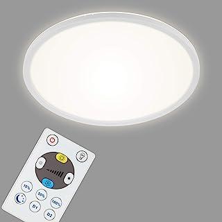 Briloner Leuchten LED 面板,可调光吸顶灯,带背光,包括遥控器,22瓦,3000流明,白色,420x29mm (DxH) 7080-016