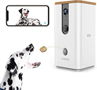 Vbroad 智能宠物相机*分配器,2.4G WiFi 远程摄像机监视器 720P 高清夜视视频,带 2 路音频专为狗和猫设计,家庭*宠物监视器(安卓/iOS)