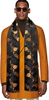 YOHOWA 预扎蝴蝶结口袋方形袖扣套装男式丝绸领带套装