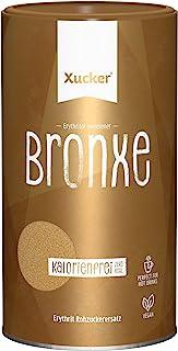 Xucker Bronxe Brauner Zucker Dose, Erythrit mit natürlichem Aroma, kalorienfreie natürliche Rohrzucker-Alternative, 1er Pa...