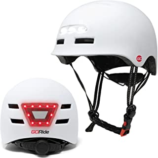 Go Kids 自行车头盔带 LED 灯自行车头盔儿童滑板头盔