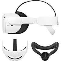 Esimen K3 Elite Strap 适用于 Oculus Quest 2 头靠垫 带面罩替换头带,舒适防护头带…